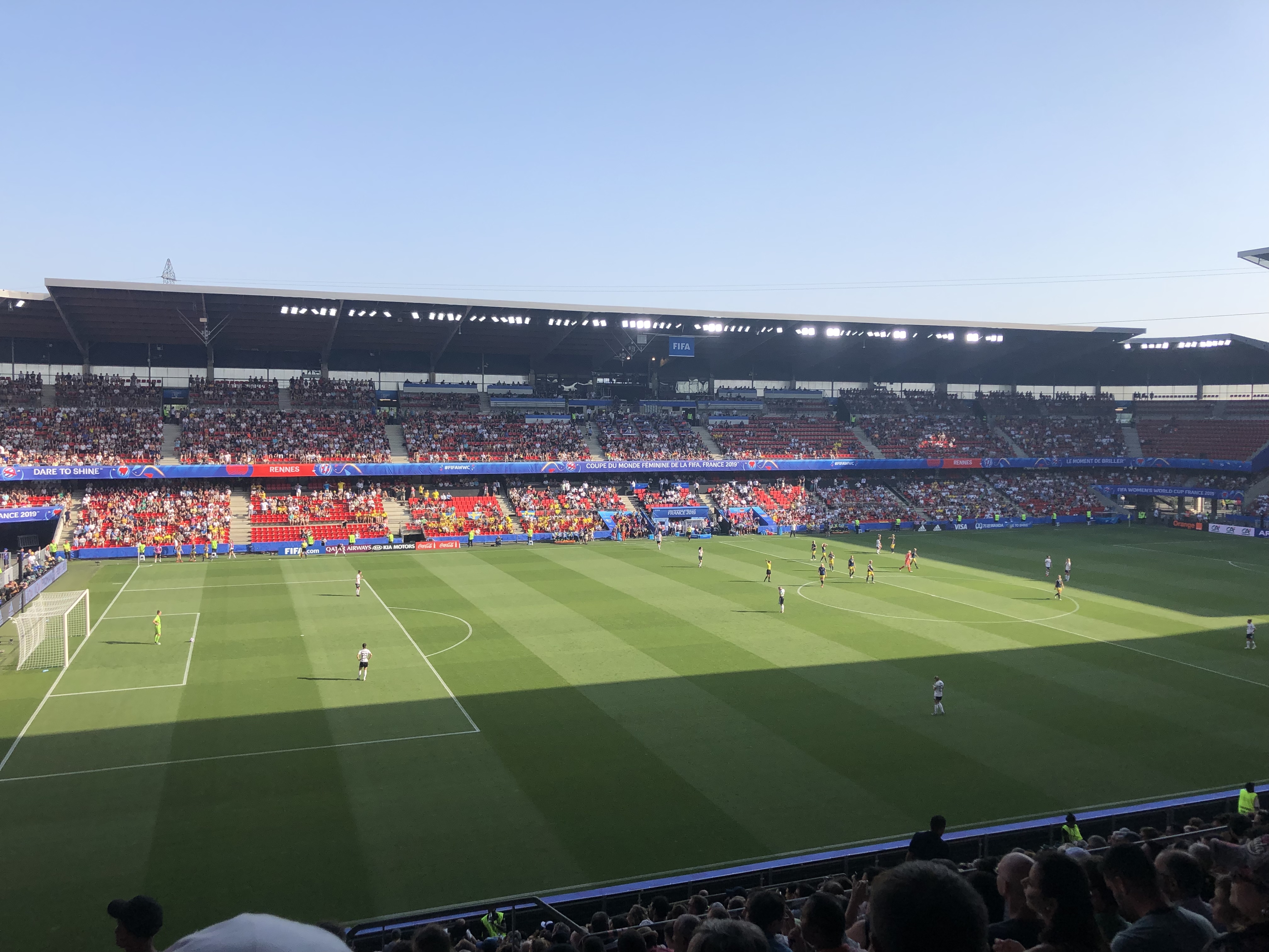 soccer match in Rennes