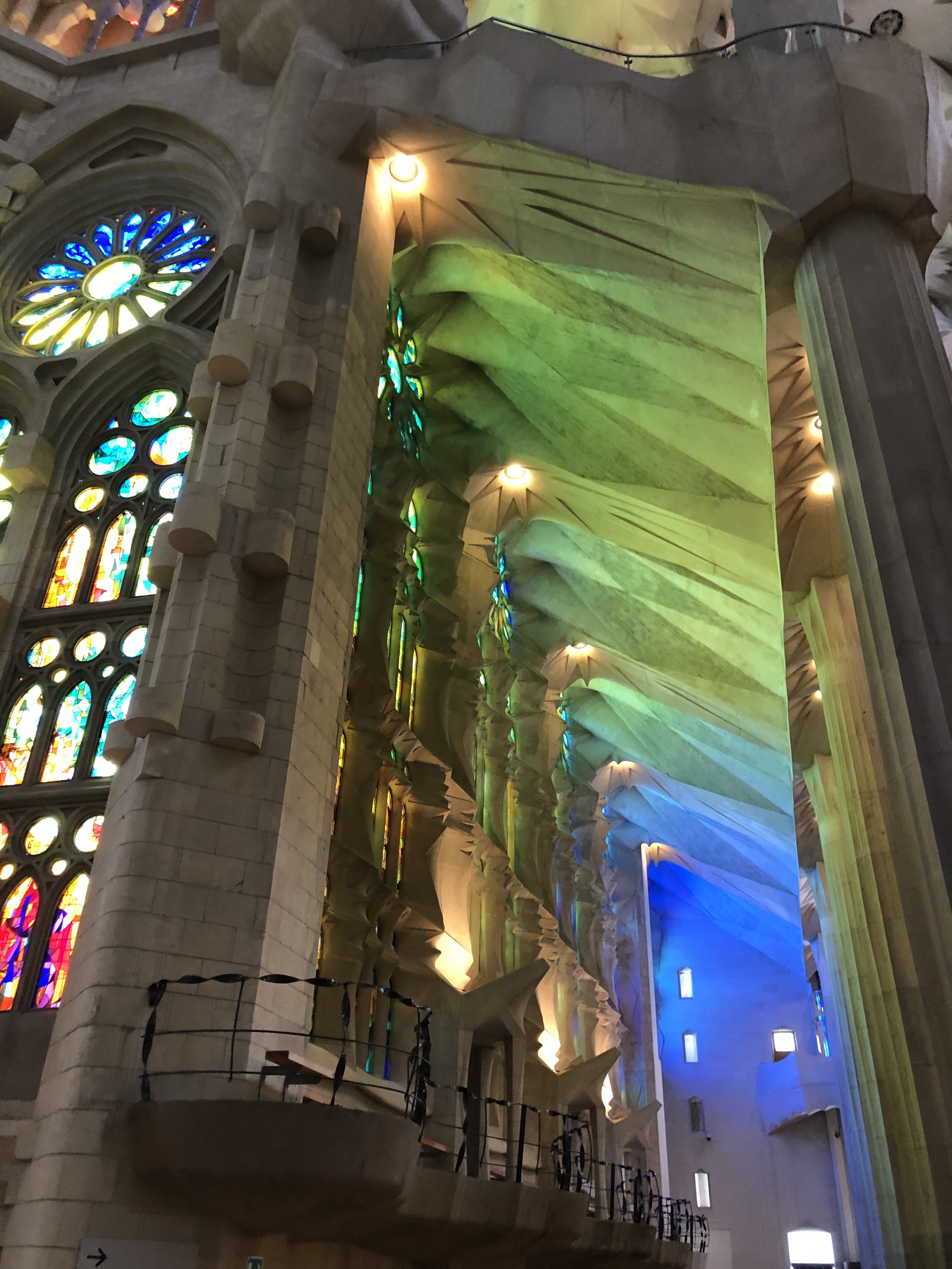 sagrada familia on the inside