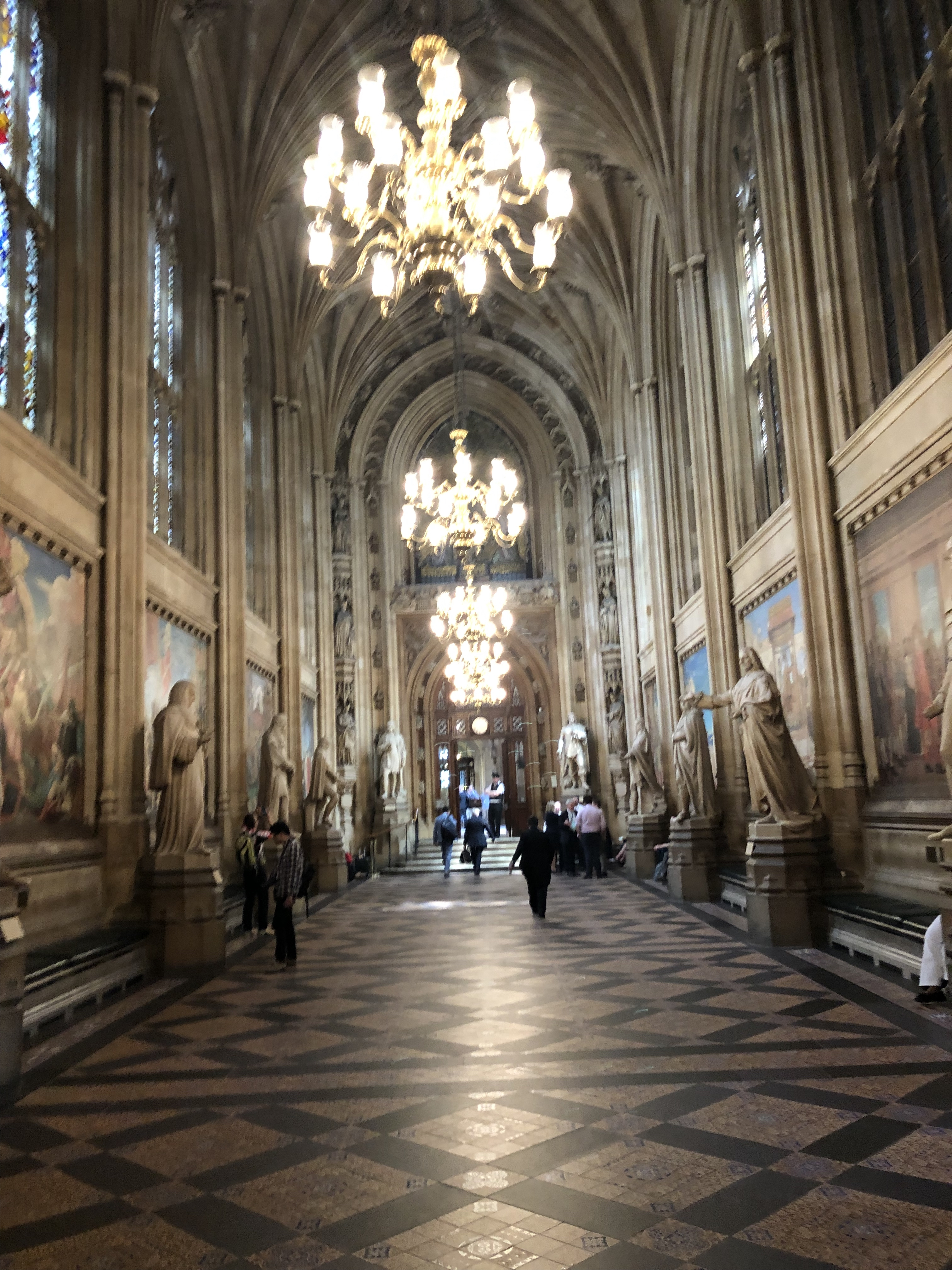 British parliament entryway